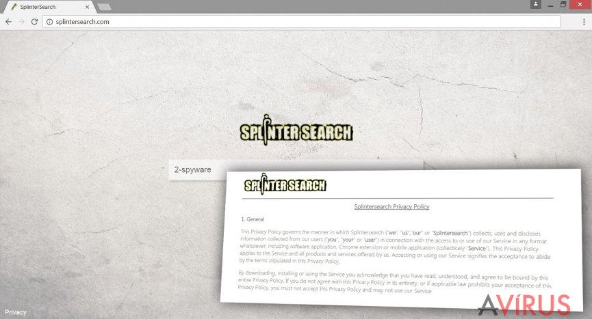 Kép a Splintersearch.com vírusról