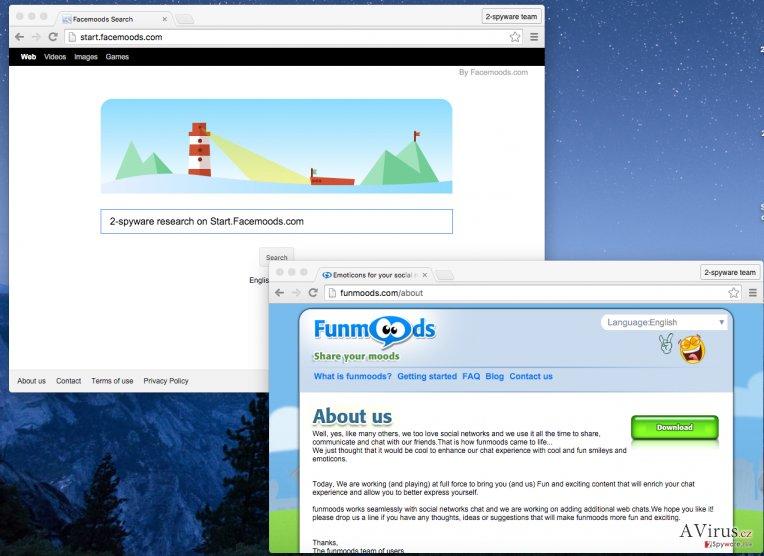 Start.Facemoods.com hijacks all Internet browsers