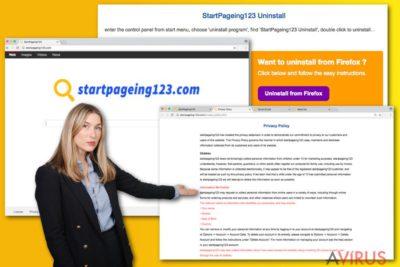 Kép a StartPageing123.com vírusról
