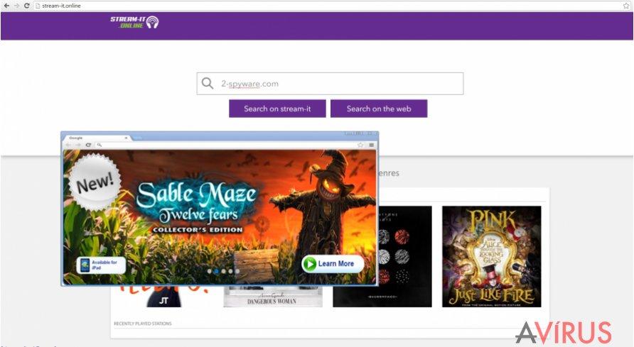 Stream-it.online vírus weboldala