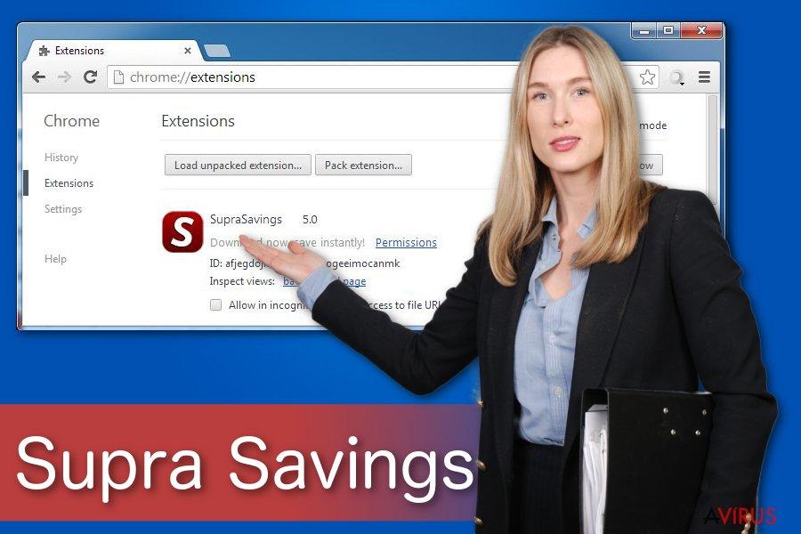 """""""Ads by Supra Savings"""" vírus"""