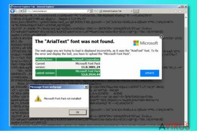 """A """"The ArialText font was not found"""" hirdetések"""