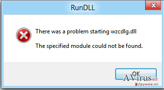 The specified module could not be found kép