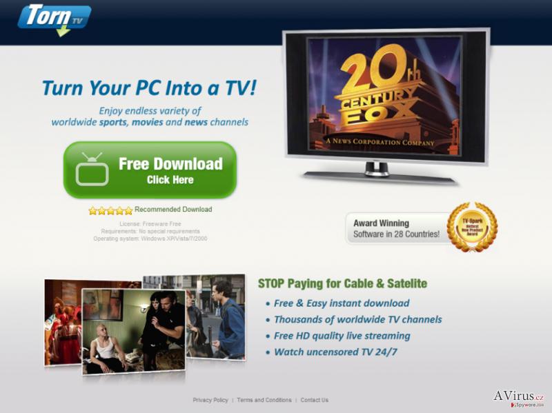 TornTV malware kép