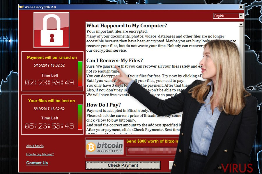 Wana Decrypt0r ransomware vírus