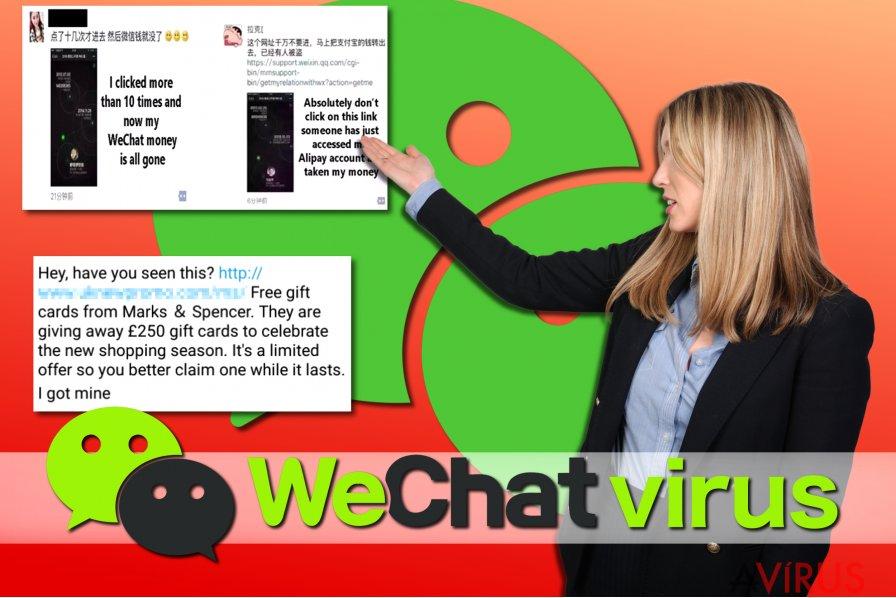 Példák WeChat vírusokra