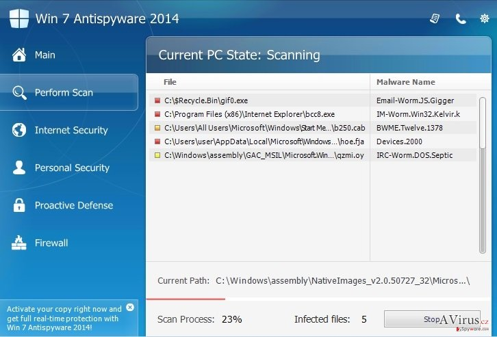 Win 7 Antispyware 2014 kép