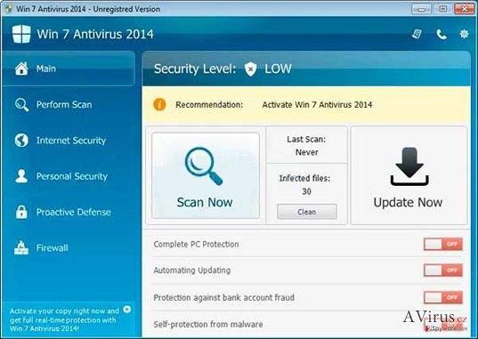 Win 7 Antivirus 2014 kép
