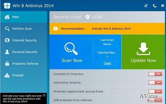 Win 8 Antivirus 2014 kép