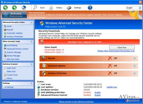 Windows AntiBreach Module kép