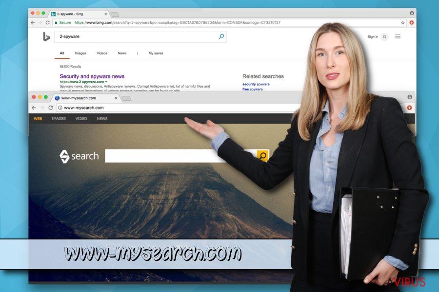 A www-mysearch.com potenciálisan kéretlen program