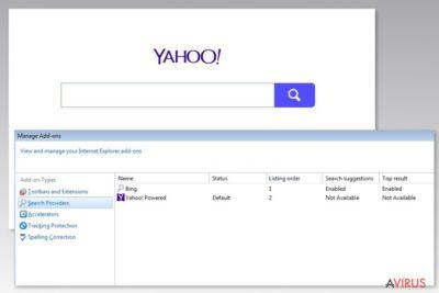 Kép a Yahoo Powered vírusról