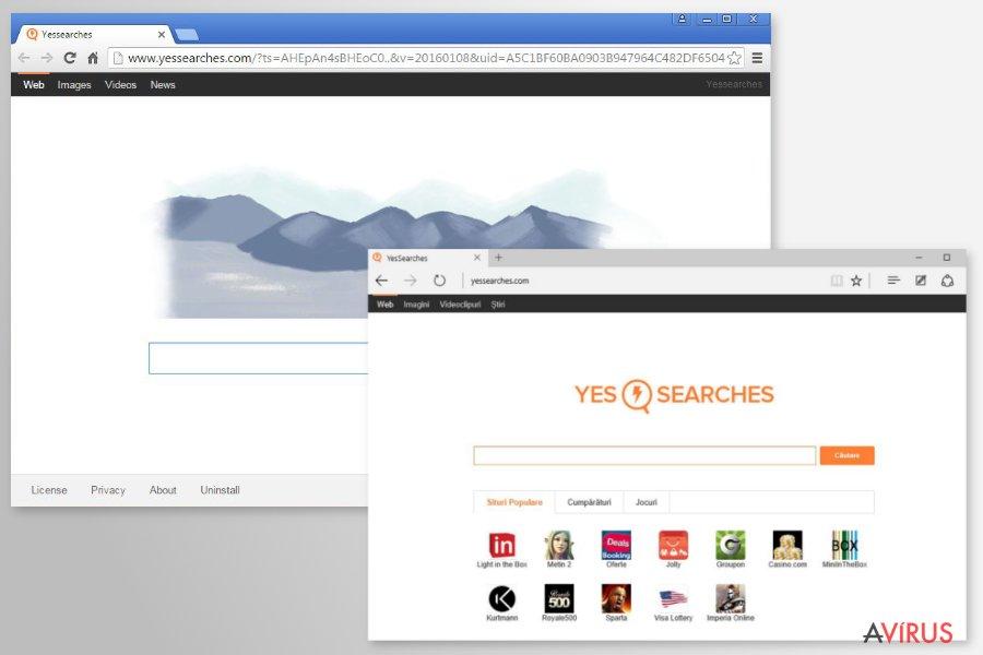 YesSearches.com átirányító kép