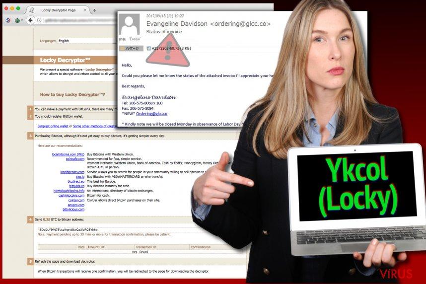 A Locky vírus most Ykcol nevet használ