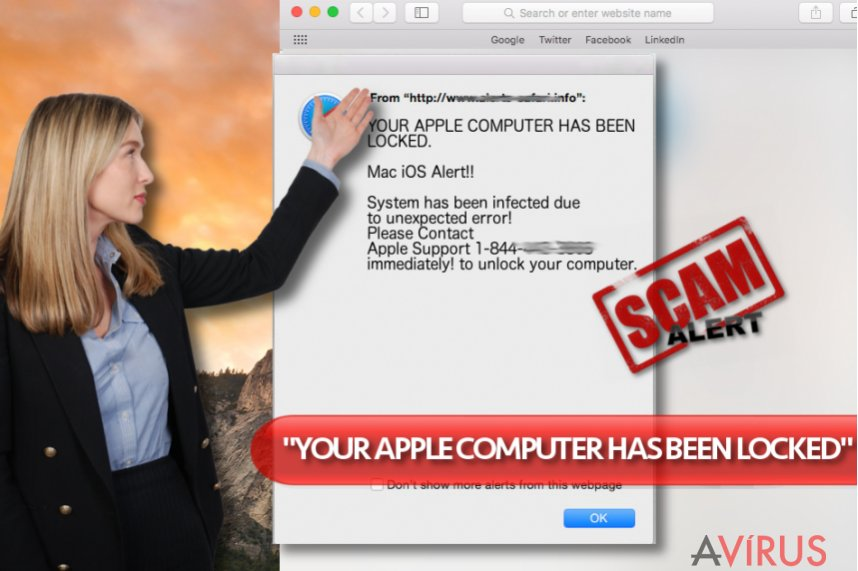 "A ""YOUR APPLE COMPUTER HAS BEEN LOCKED"" vírus"