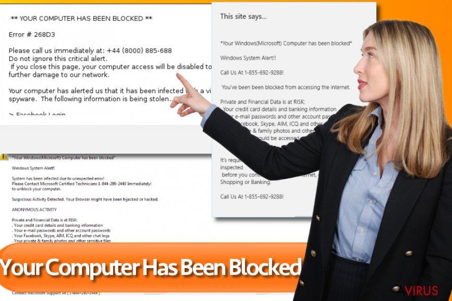"""""""Számítógépét blokkolták"""" vírus kép"""