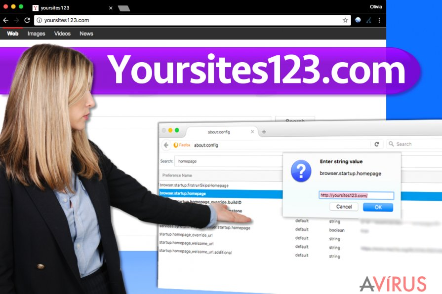 YourSites123.com vírus kép